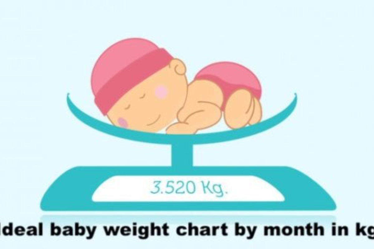 Ideal baby weight chart by month in kg with weight formula