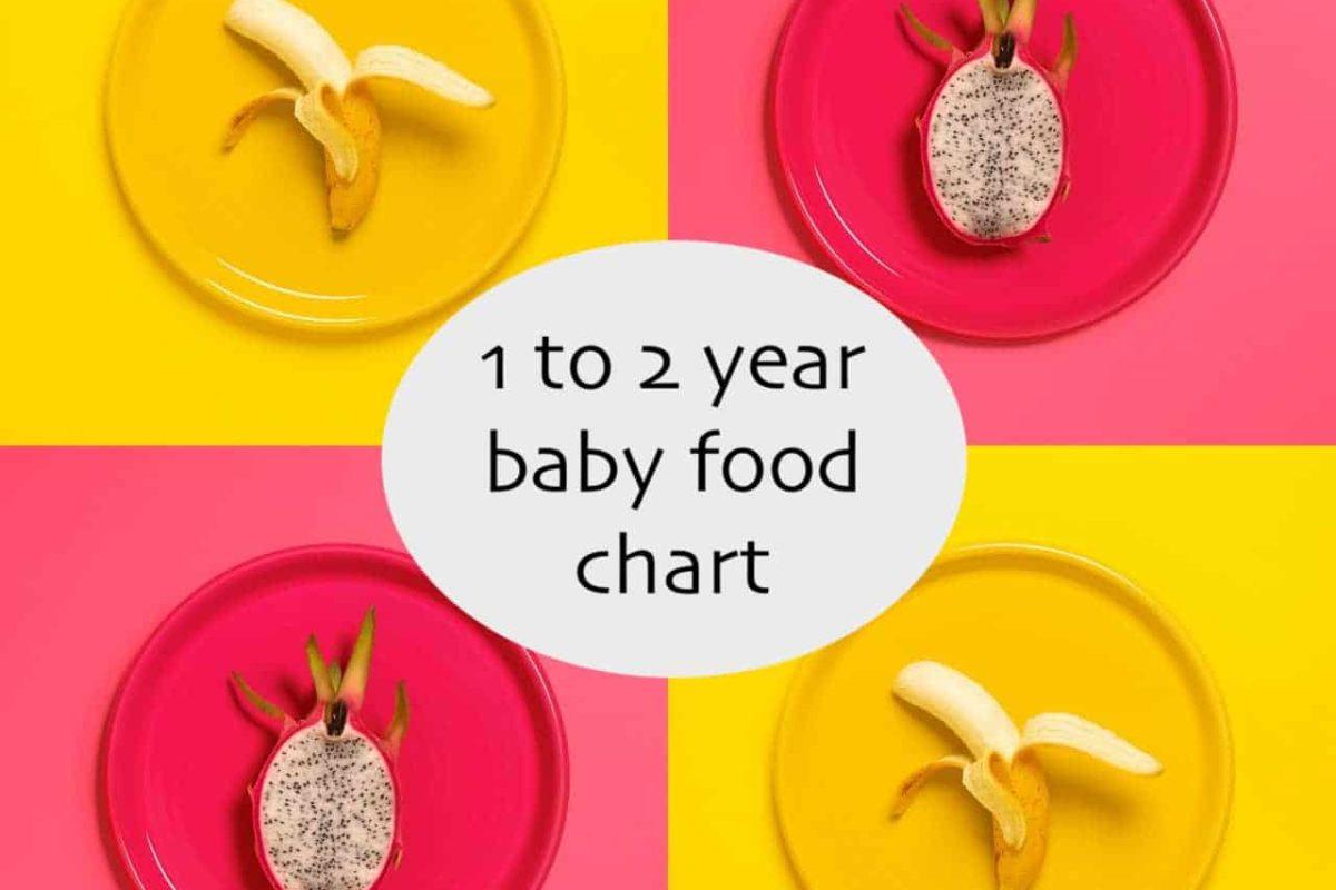 1 to 2 year baby food chart by Dr. Surabhi Gupta (Pediatrician)
