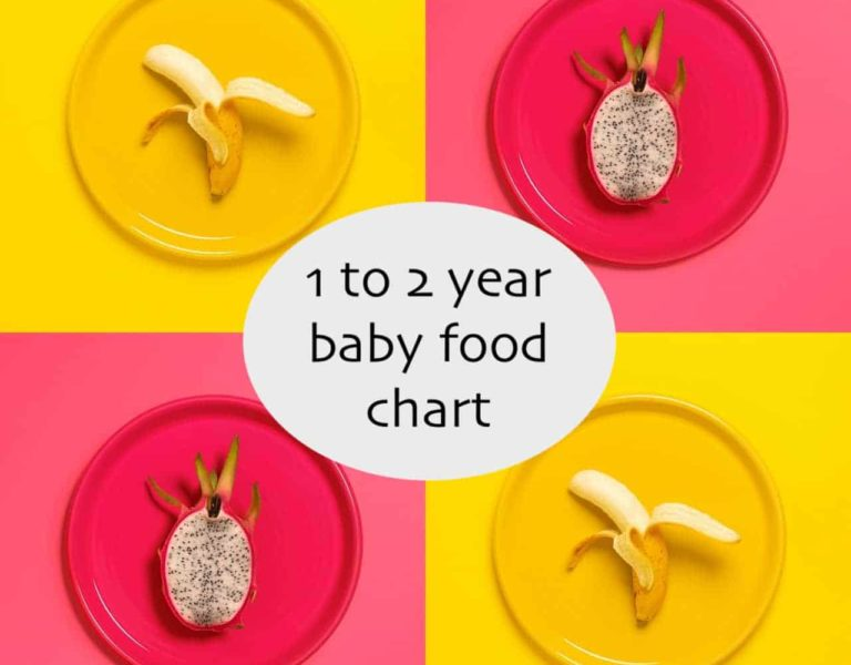 1 to 2 year baby food chart by Dr. Surabhi Gupta (Pediatrician)