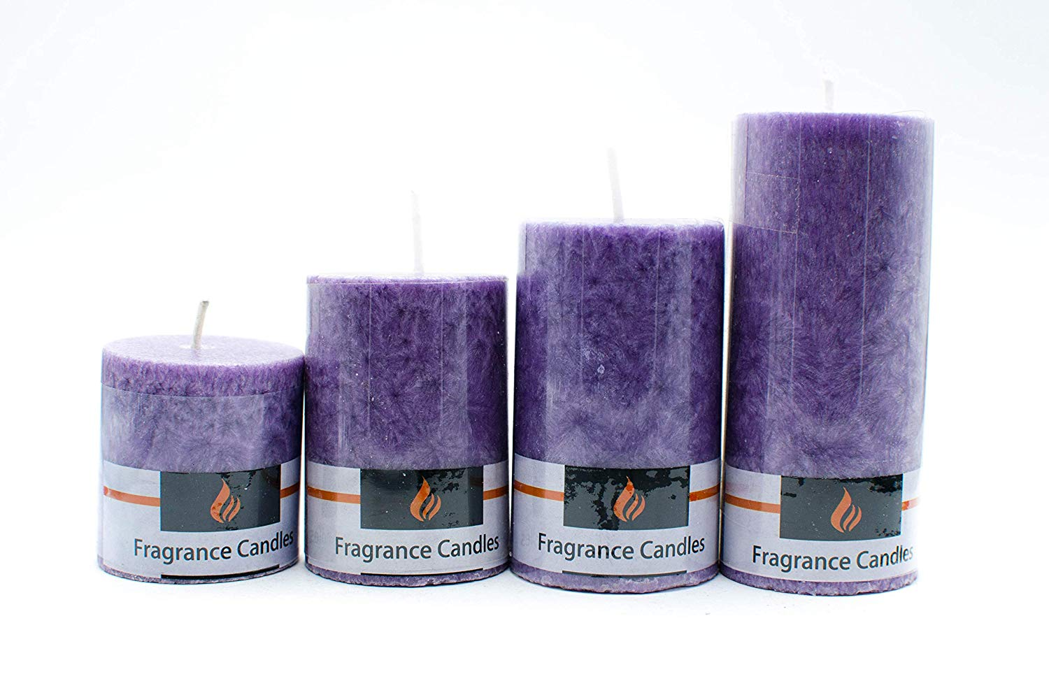 Set of 4 Scented pillar candles
